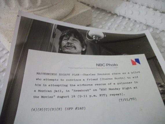 1978 nbc television press release photo charles bronson