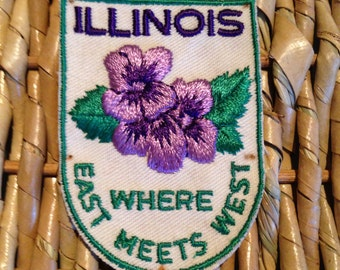 Illinois Vintage Travel Patch by Voyager