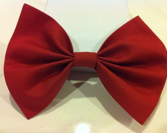 Handmade Large Red Clay Bow Tie