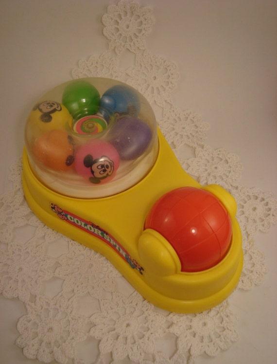 Old Mattel Toys : Mattel disney color spin toy vintage collectible