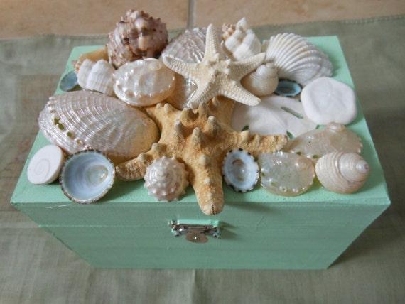 Items similar to beach decor seashell jewelry box for Beachy decor items