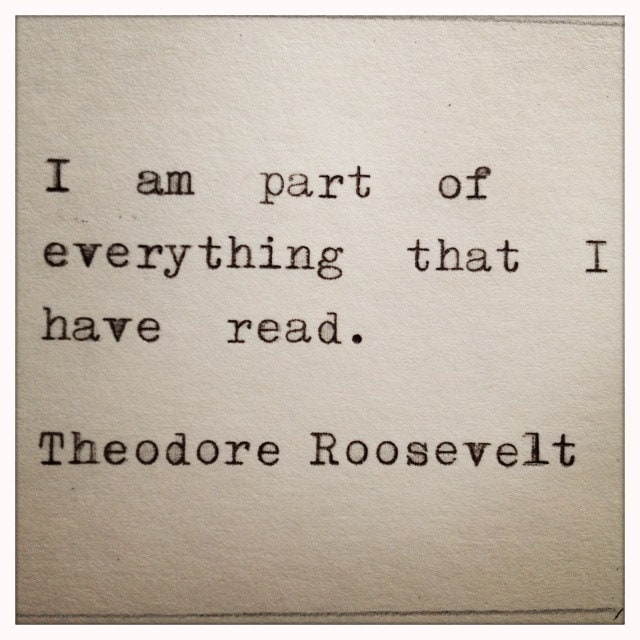 theodore roosevelt quote typed on typewriter