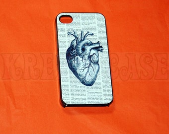 iPhone 4 Case, iPhone 4s case Anatomy Human Heart iPhone 4 Cases, iPhone 4s Cover,Case for iPhone 4