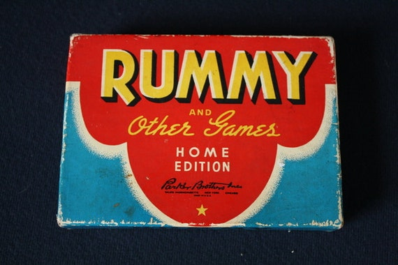 1942 Boxed Rummy and Other Games Home Edition by Parker Brothers.  Vintage Card Game.