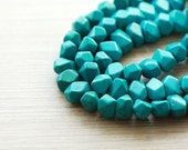 20 pcs of Faceted turquoise Gemstone Beads