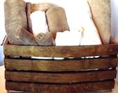 Wine Barrel Stave Giant Basket, Storage, Wine Country, Home Decor, Wedding Gift