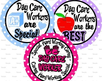 Day Care Worker Bottle Cap Images 4x6 Bottlecap Collage Scrapbooking Jewelry Hairbow Center