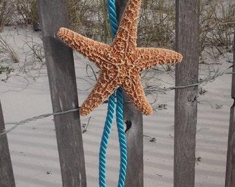 Sugar Starfish Wedding Chair Hanger, Beach Wedding Aisle Decoration, Starfish Chair Hanger, Pew Hanger