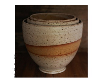 mixing bowl set : rusty