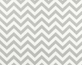 Upholstery Fabric, Drapery Fabric, Pillow Fabric, Chevron Fabric Gray, Gray/White Zig Zag , Duvet Cover Fabric, Fabric By The Yard.