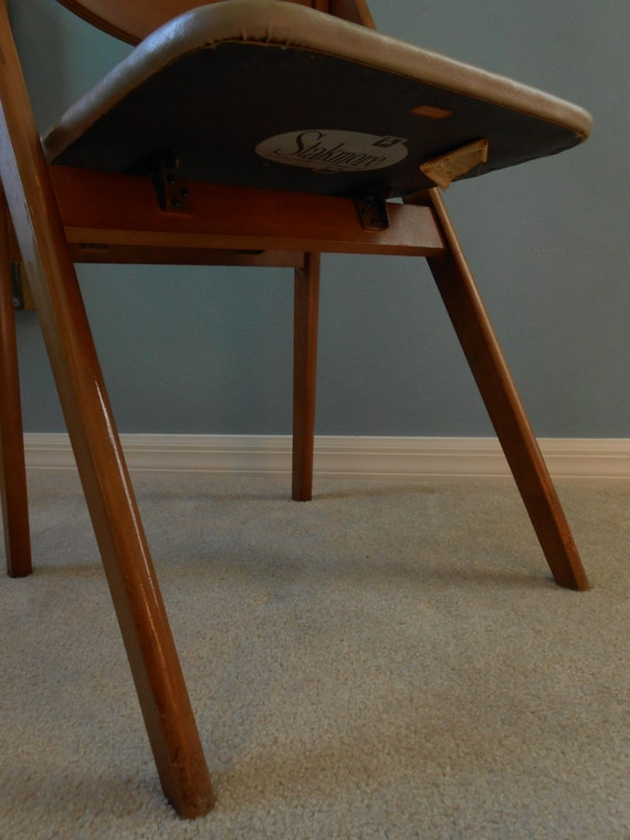 Mid Century Stakmore Folding Chair Four 4 by MidCenturyFLA