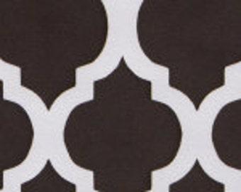 HALF YARD Brown Quatrefoil Fabric Finders Cotton Fabric
