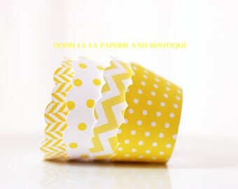 MADE TO ORDER I've Got Sunshine Yellow Cupcake Wrappers- Set of 12
