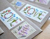 Rustic Love Stationery Gift Set Vintage Postage Love Stamps