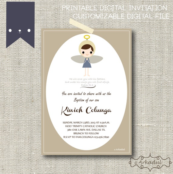 Invitations Holy Guardian Angels