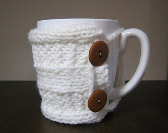 Teacher gift Knit Coffee mug tea cozy rustic decor gift teacher gift knit cup warmer knit mug cozies knit coffee sleeve gifts under 20