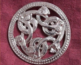 Sterling Silver Viking Three Serpent Pendant