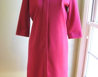 "Vintage ""Mize Modes"" Oxblood Colored Dress"