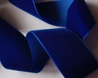 3 yards 1.5 inches Velvet Ribbon in Cobalt RY15-175