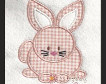 Spring Bunny Easter Machine Embroidery Applique' Design