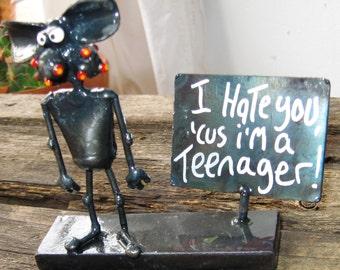 Teenage Mouse Steel Sculpture