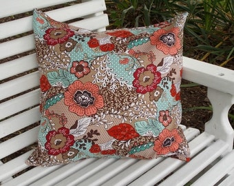 """Indoor Pillow Cover - Loose Fit - 18"""" x 18"""" 100% Cotton Pillow Cover at In Full Bloom Co."""