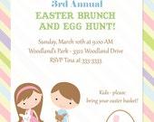 Easter Egg Hunt Brunch Invitations - printable