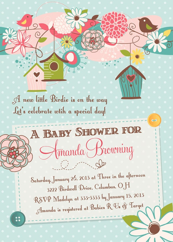 Bird Baby Shower Invitations is the best ideas you have to choose for invitation example