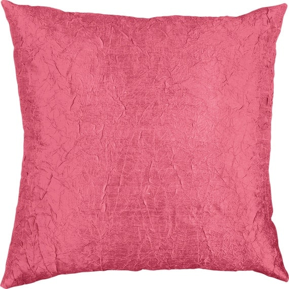Silk Decorative Pillow Covers : Throw Pillow Cover Silk Dupioni Crinkled Decorative Pillow