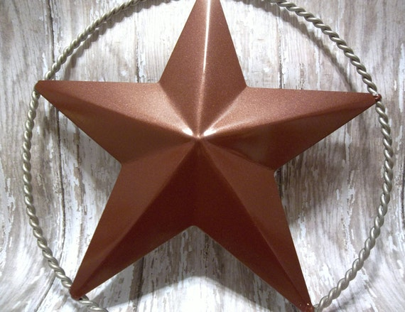 Red Star Wall Decor : Metal country western star wall decor copper red metallic