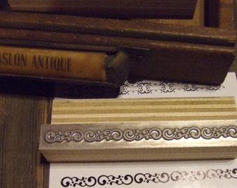 Letterpress Printing Block - Circle Swirl Line Border - Letterpress Blocks - Print Blocks - Mounted Letterpress Block