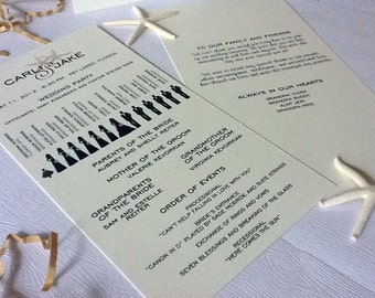 Wedding Program and Accessories