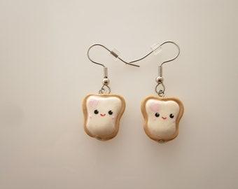 Kawaii Toast Polymer Clay Earring