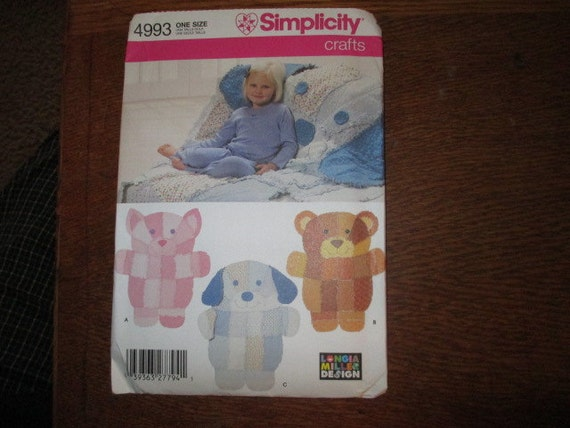 Simplicity pattern 4993 childs rag quilt throw new for Simplicity craft pattern 4993
