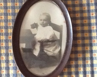 Beautiful Oval Framed Photo of a Young Child
