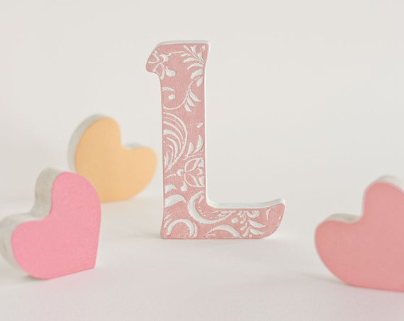 wooden letter l wedding decor home decor wood decoration love letters