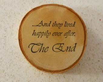 Rustic Birch Wedding Favor Coasters