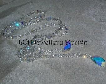 Stunning Crystal Bridal Lariat Necklace