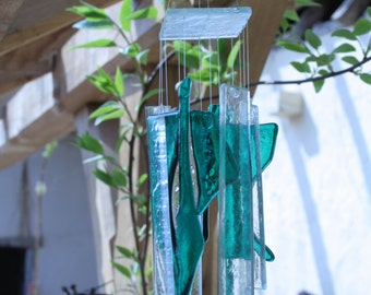 Light-catching glass windchimes with gentle, melodic sound