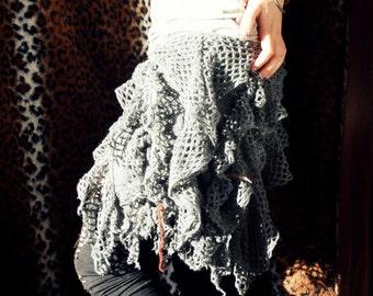 Grey Gypsy Hippie skirt