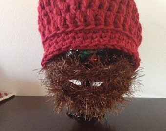 Beanie with Detachable Beard