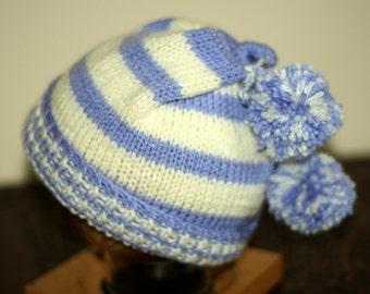 Hand Knitted Bobbled Tassle Hat