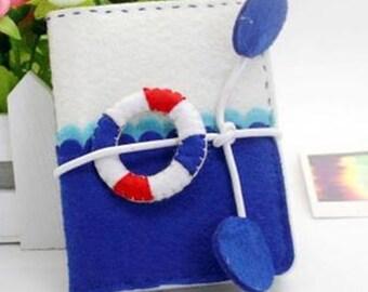 Lifebelt Felt Card Holder, Sewing projects, craft kit, sewing kit, Sew for kids, ShineKidsCrafts