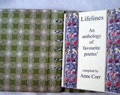 Artist book, handmad book, coptic stitch book, poems , mini book