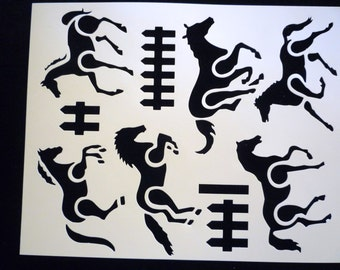 Items similar to Square Knot: Reusable, Wall Stencil ...