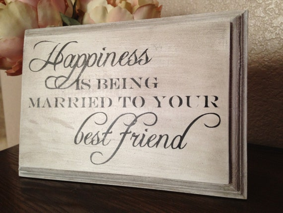 Wedding Gift Ideas For Close Friends: Items Similar To Happiness Is Being Married To Your Best