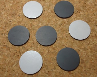 25 OR 50) pieces 1 Inch Magnets Round Magnets 1 inch Adhesive Round Magnets DIY Crafts Buttons Cabochons