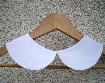 Peter Pan Detachable White Collar Necklace,Hand Made from Fine Cotton Fabric