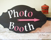 Custom painted wood sign for wedding or party