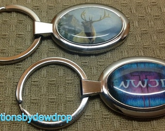 2 Custom photo Keychains or pendants with any photo or image